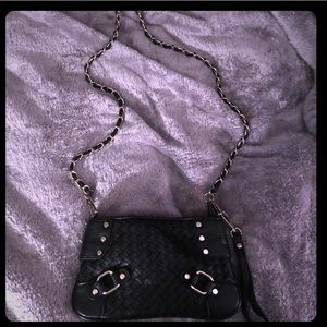 Small black bag with gold chain Perfect condition